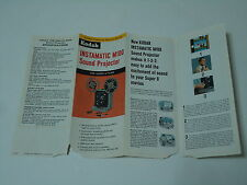 Kodak Instamatic M-100 Sound Projector Advertising Foldout Home Movies Vintage