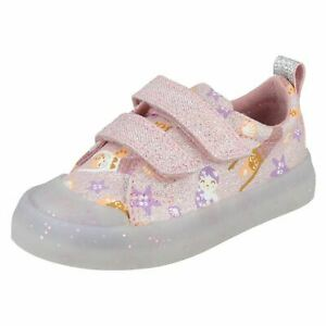 Girls Clarks Casual Shoes 'Foxing Print T'