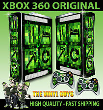XBOX 360 OLD SHAPE EAT SLEEP MINE REPEAT MINECRAFT STYLE STICKER SKIN & PAD SKIN