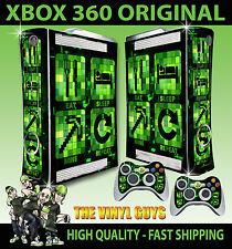 XBOX 360 OLD SHAPE EAT SLEEP MINE REPEAT MINECRAFT STYLE STICKER SKIN & PAD SKIN