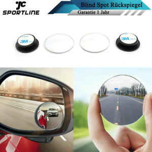 2x 360°Einstellbar Auto Blind Spot Rückspiegel Weitwinkel toter Winkel Aufsatz