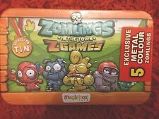 Zomlings in the town z-games Collector Tin Sealed Exclusive 5 Metal Colour