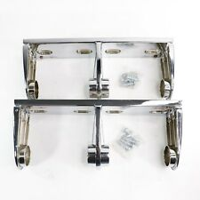Chrome Double Roll Toilet Paper Tissue Holders - Commercial Grade - Qty 2