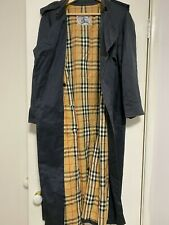 Vintage Burberry Double Breasted Navy Trench Coat
