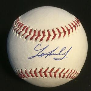 Johnny Cueto Reds Giants signed MLB Baseball auto autograph Steiner COA 7