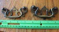 Brass Drawer handles Lot of 2 Dresser night stand pulls Antique Vintage ornate