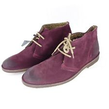 Selected Men's Boots Suede Low Shoes Padded Wine Red Np 89 New