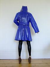 Shiny Blue PVC Raincoat / Mac, 4XL, Plastic Rain Coat Jacket, Regenmantel, Vinyl
