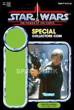 STAR WARS: POWER OF THE FORCE Luke Skywalker Jedi (1985) Repro Kenner Cardback