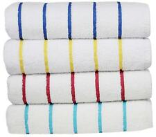 4 pieces Pack- 30x62 inches-XLarge Pool/Beach Striped Towels by MIMAATEX
