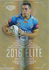 2016 NRL Elite Gold Special (056) Daniel MORTIMER Titans