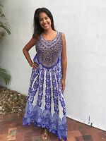 Embellished Silk Crepe Kaftan Dress+Kaftans O/S fits 12-18 Summer Dress Blue