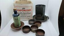 More details for antique boots vaporizer  coal tar inhaler box kit blue poison bottle rye sussex