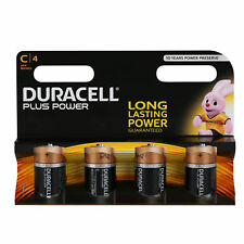 4x Duracell Batterien PLUS POWER Alkaline Baby LR14 C 1,5 V Blister 4 Stück