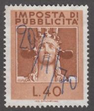 Italy Pubblicita Poster Advertising Revenue Barefoot #6 used 40L 1965 cv $19