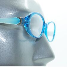 Fun Reading Glasses See Thru Aqua Blue Whimsy Oval Jelly Frame +1.00 Lens
