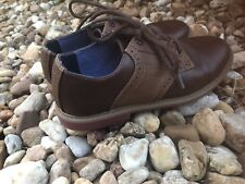 82f6b8295 Boys Tommy Hilfiger Brown Oxford Lace Up Dress Shoes Size 4