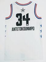 GIANNIS ANTETOKOUNMPO Autographed Bucks 2019 All Star Jersey FANATICS