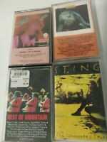Classic rock Lot Of 22 Cassette Tapes Classic Rock Sting Billy Ocean
