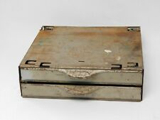 Vintage Equipto Small Parts Industrial Steel 2 Drawer Tray Cabinet with Dividers