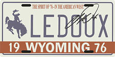 Chris Ledoux Wyoming Cowboy 1976 License plate with signature