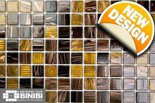 BROWN Glass Mosaic Tiles Bathrooms Kitchens Wall Floor SAMPLE 4M-126