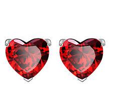 coppia orecchini da donna strass cuore rosso R29