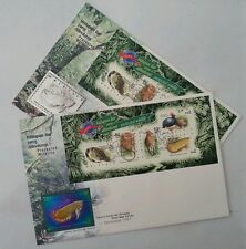 Protected Wildlife 1997 Rare Limited Fish Fauna Crocodile (Niobium + Pewter FDC)