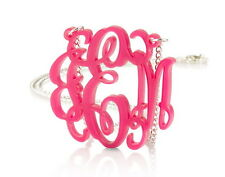 """Monogram Necklace 1.6"""" Acrylic - Custom Made with any Initials"""
