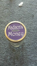 """custom laser engraved Piggy coin bank lid for 3"""" wide mason jars  MADE IN USA"""