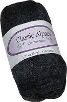 Classic Alpaca 100% Baby Alpaca Yarn #403 Charcoal Gray 50g/110 yds DK Peruvian