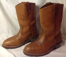 NEW Iron Age Steel Toe EH Leather Cowboy Work Boots Vintage - Mens 8.5 EEE Wide