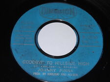 Johnny Pinna: Goodbye To Hillside High / Why Must You Love Him 45