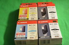 Canon origine BJC-8200 4 x encres 1 x cyan jaune 2 x noir BCI-5 c y bk