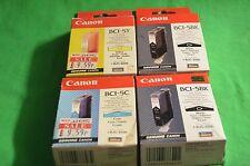 Original Original de Canon BJC-8200 4 X Cian tintas 1 X Amarillo 2 X Negro BCI-5 C y BK