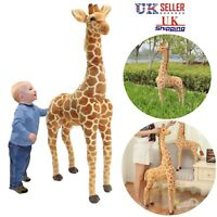Plush Giraffe Doll Giant Large Stuffed Animals Soft kids Toy Xmas Gift 100CM UK
