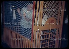 Vtg SMALL TOWN PARADE FAIR 35mm PHOTO SLIDE  Man Boy in Jail Booth New Car Owner