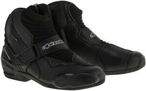 Alpinestars Men's SMX-1 R Vented Street Motorcycle Boot, Black, 43