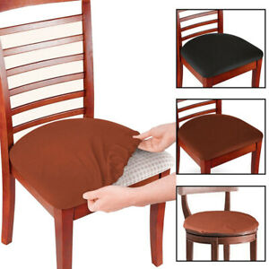 Stretch Dining Chair Seat Covers Removable Seat Cushion Slipcovers Protector