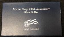 2005 P Marine Corps 230th Anniversary Silver Proof Dollar w/ Box & COA NH