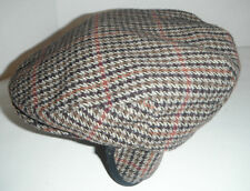 Woolrich Cabbie wool tweed Plaid WITH Ear Flaps Hat Cap New SMALL