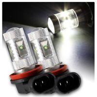 9005 HB3 X2 Super Bright White CREE LED Fog Light Bulbs 6000K Foglight Spotlight