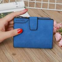 Womens Wallet PU Leather Card Holder Small Organizer Zipper Coin Purse CF