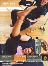 Publicité 2000  téléphone SIEMENS coffret nomad Bouygues Telecom