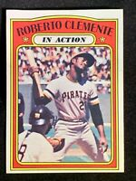 Roberto Clemente Pirates 1972 Topps In Action #310 - NM+ - Beautiful Card!