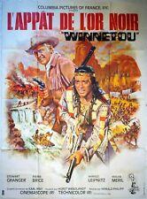 Affiche cinéma L'APPAT DE L'OR NOIR WINNETOU Stewart Granger - 120 x 160 cm