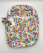 NWT Kipling Seoul Large Backpack with Laptop Protection Citrus Smash & Keychain