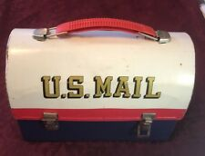 Vintage 1960's Aladdin US Mail Metal Lunchbox WITH Thermos - RARE !!