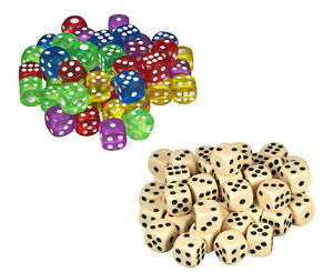 scarlet play Würfelset »Casino 50« 50 Stück Stoffbeutel 6-seitige Würfel 16 mm