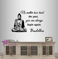 Vinyl Decal You Can Always Begin Again Buddha Quote Wisdom Yoga Wall Decor 196